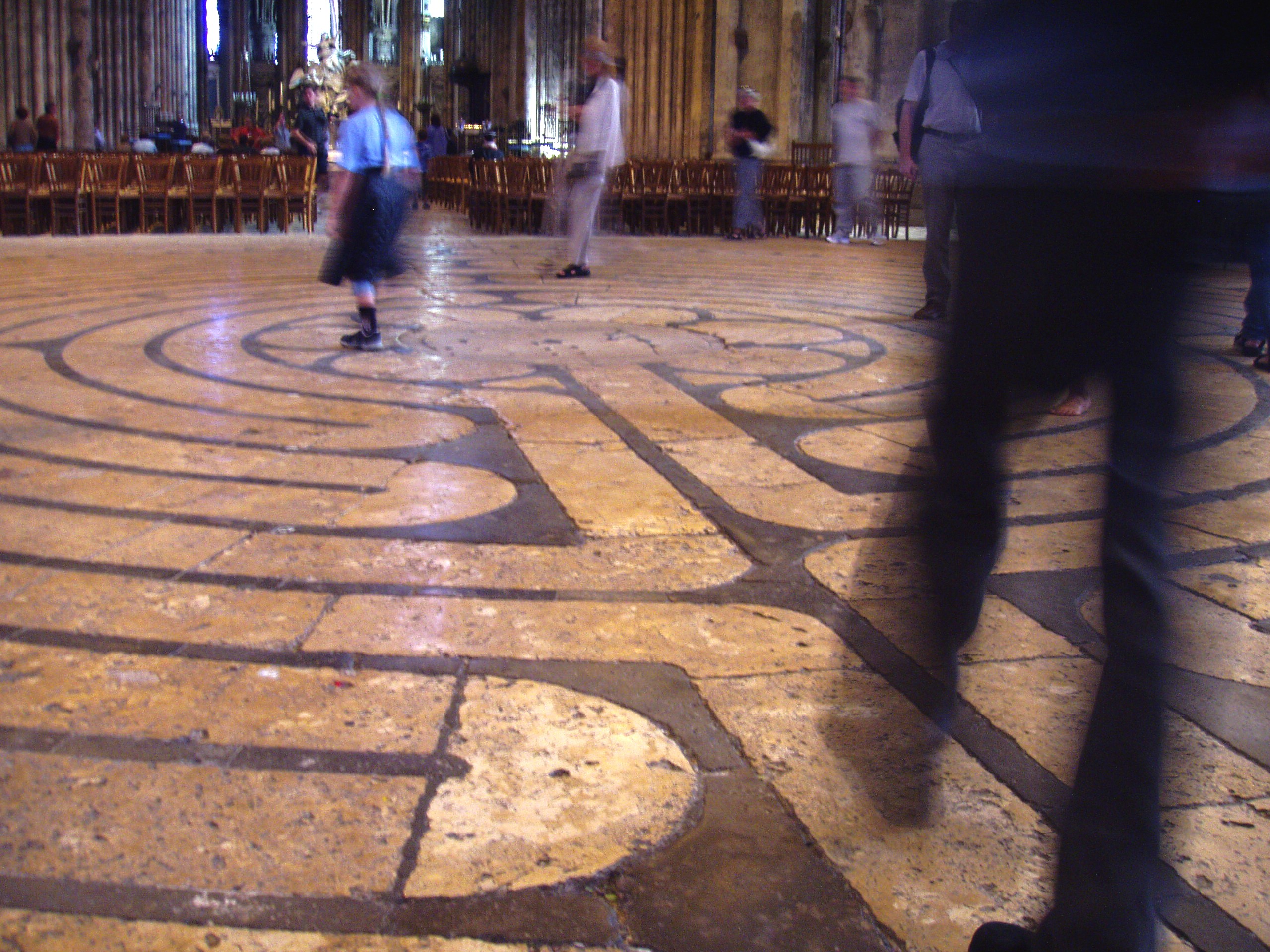 The labyrinth at Chartres Cathedral