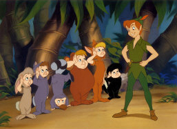 Disney's Peter Pan with the Lost Boys.