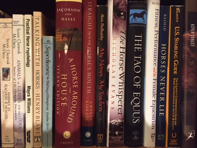 Some of my horse books.
